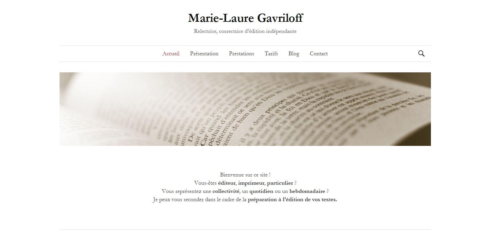 Marie-Laure Gavriloff, correctrice d'édition