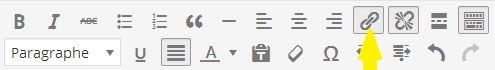 créer ou supprimer un lien hypertexte wordpres