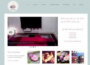 page accueil site massage