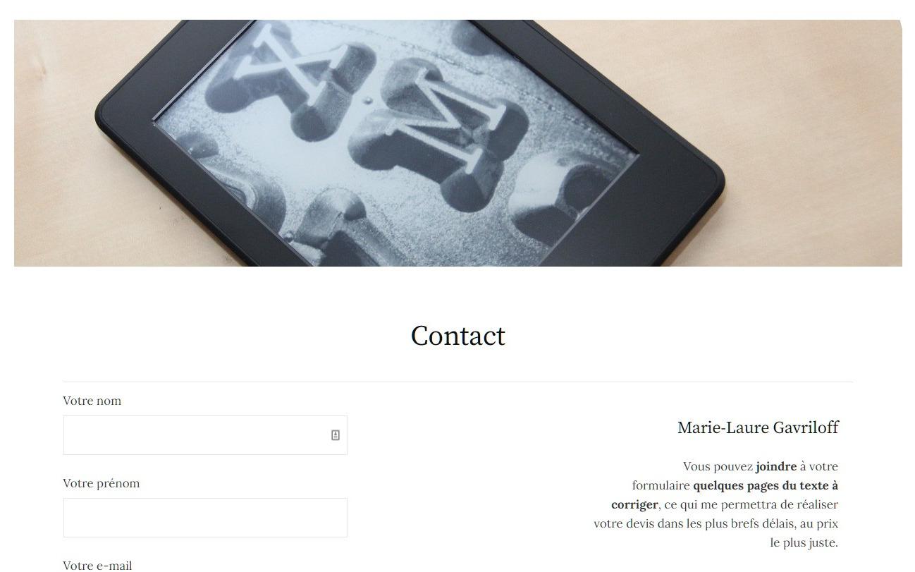 Contact – Marie-Laure Gavriloff