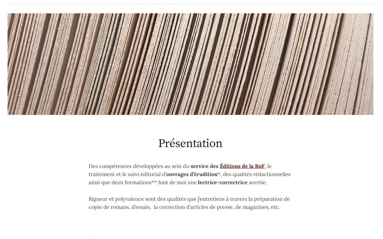 page de Présentation – Marie-Laure Gavriloff