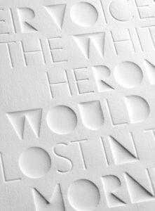 débossage letterpress