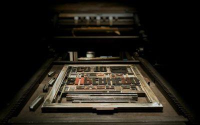 L'impression typographique donne du relief au papier