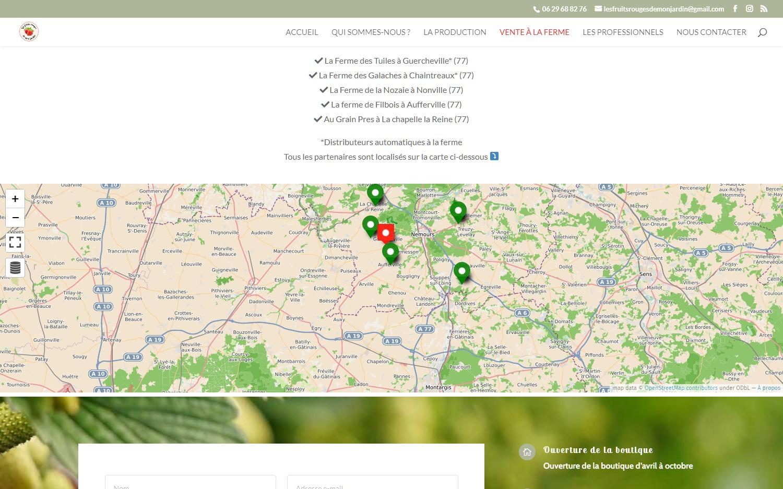 carte interactive fruits rouges chardon
